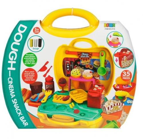 Set de joaca bucatarie Creative valiza galbena 24X22X10 cm 2