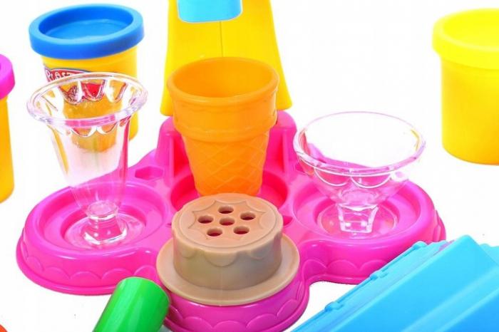 Set de joaca Masina Inghetata plastilina, 21 piese [3]