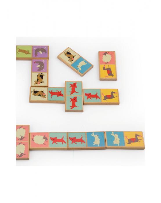 Set domino din lemn, animale 28 piese [3]