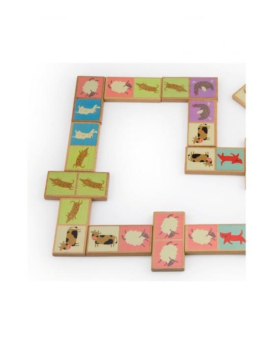 Set domino din lemn, animale 28 piese [6]