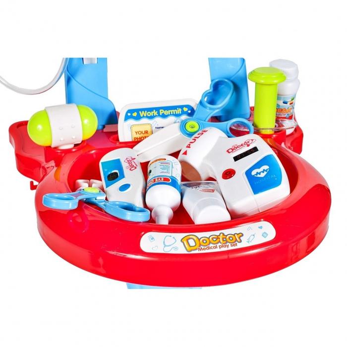 Set medical Ecograf portabil cu sunete si lumini, accesorii incluse, Albastru [4]