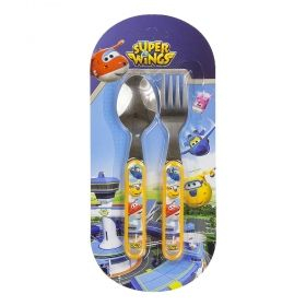 Set mic dejun 2 tacamuri metal Super Wings 0