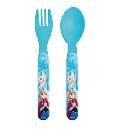 Set mic dejun 2 tacamuri plastic Frozen albastru [0]