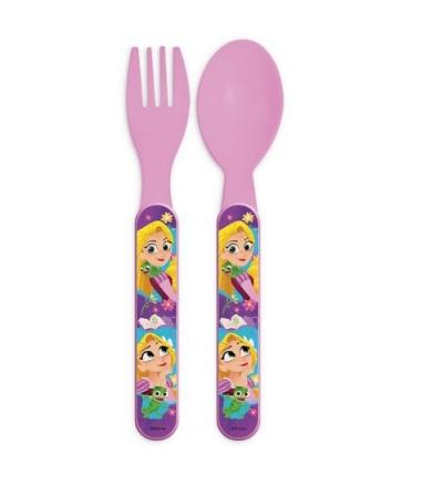 Set mic dejun 2 tacamuri plastic Rapunzel 0