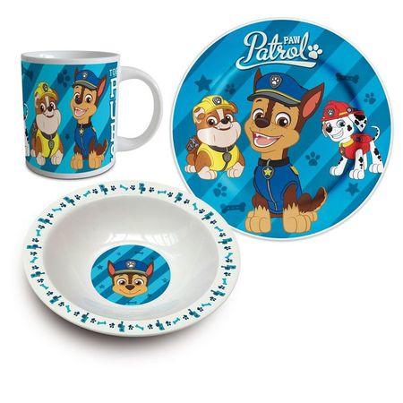 Set mic dejun 3 piese ceramica Paw Patrol Puppy 0