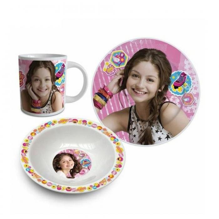 Set mic dejun 3 piese ceramica Soy Luna 0