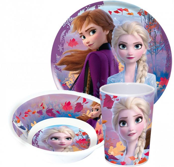 Set mic dejun 3 piese Frozen II melamina 0