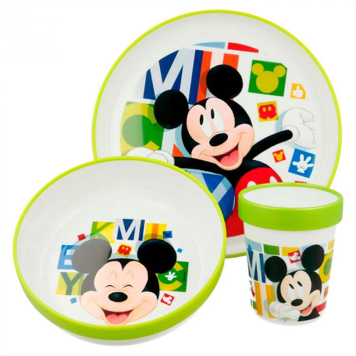 Set mic dejun 3 piese Mickey Mouse melamina 0