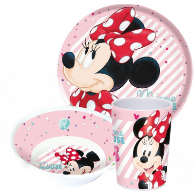 Set mic dejun melamina Minnie Mouse,  3 piese 0