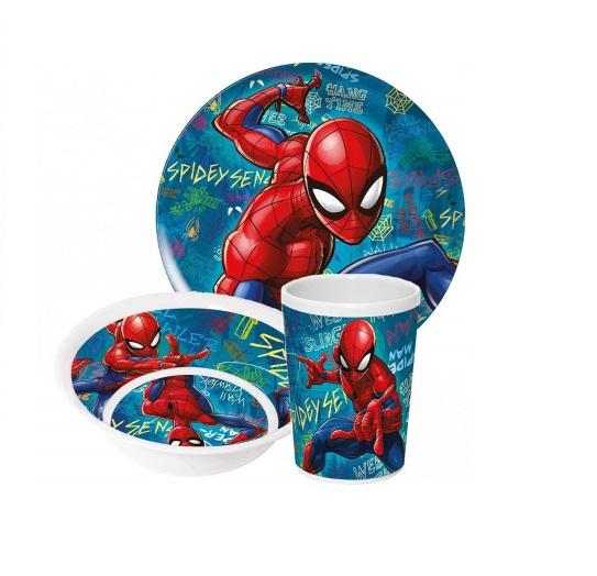 Set mic dejun melamina Spiderman, 3 piese 0