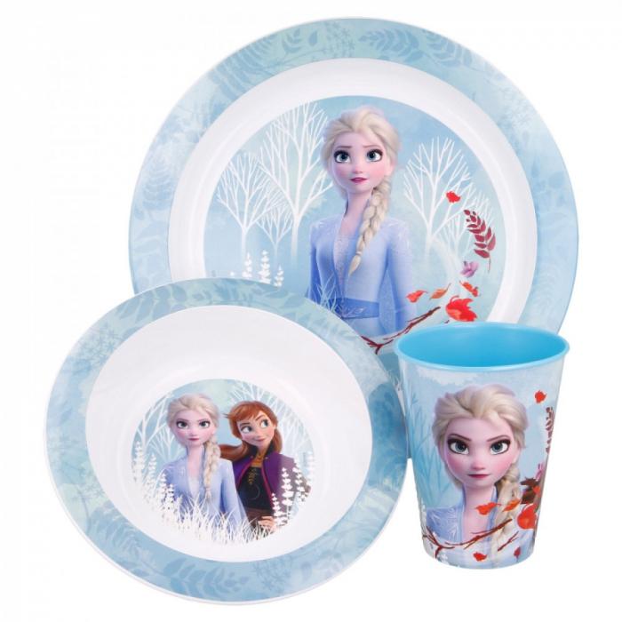 Set mic dejun plastic Frozen Anna Elsa, 3 piese [0]