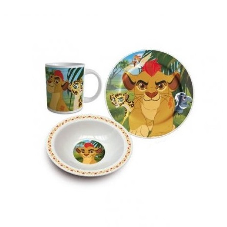 Set mic dejun Regele Leu 3 piese ceramica 0