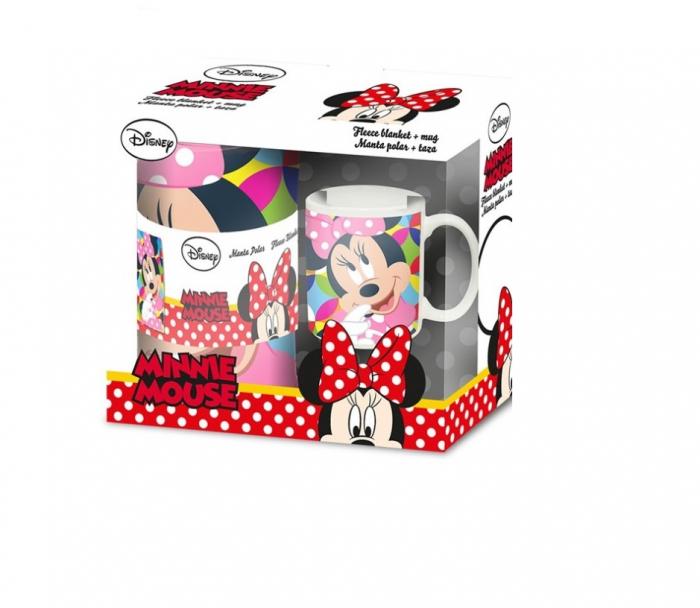 Set Minnie Mouse, patura 150x100 cm+cana 200 ml 0