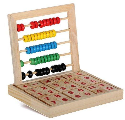 Set Numere cu socotitoare de lemn 0