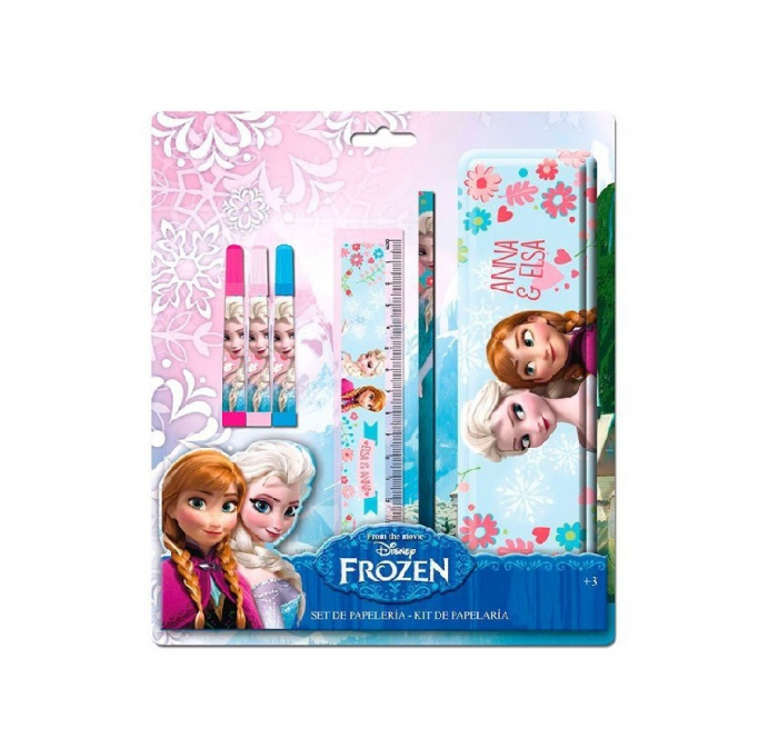 Set papetarie Frozen cu penar metalic 0