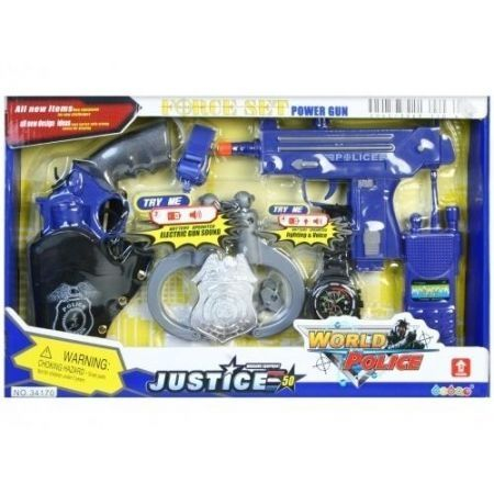 Set pistoale politie justice cu aceesorii 0