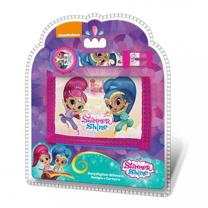 Set portofel + ceas digital Shimmer Shine 0