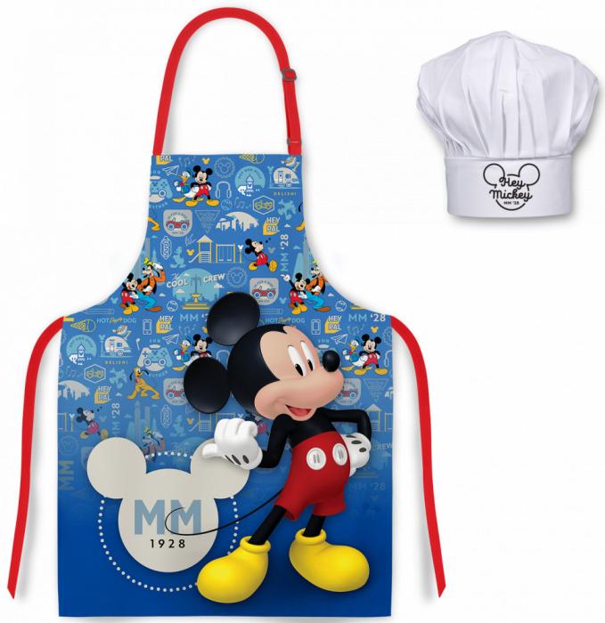 Set sort si boneta de bucatar Mickey Mouse 0