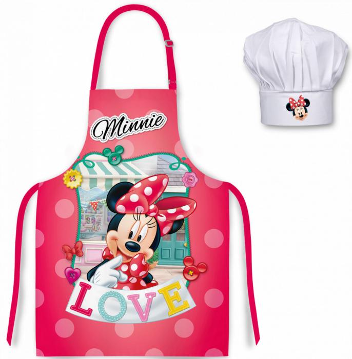 Set sort si boneta de bucatar Minnie Mouse 3-8 ani [0]