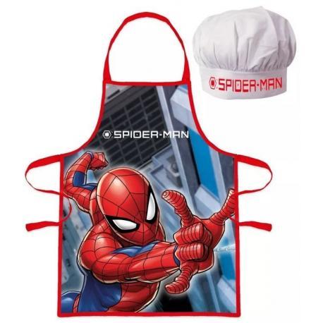 Set sort si boneta de bucatar Spiderman, rosu [0]