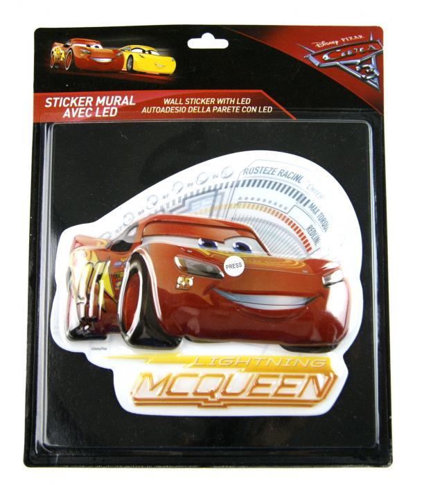 Sticker de perete cu led Cars McQueen, SunCity [1]