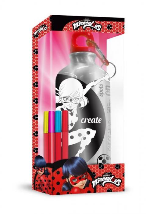 Sticla apa aluminiu de colorat Ladybug 500 ml 0