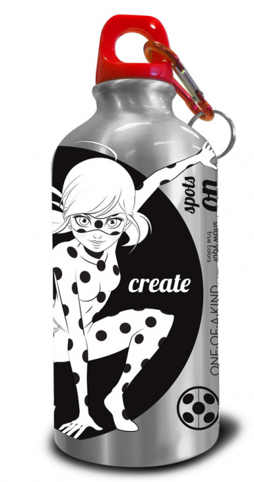 Sticla apa aluminiu de colorat Ladybug 500 ml 1