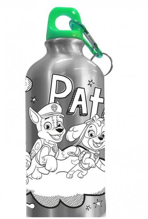 Sticla apa aluminiu de colorat Paw Patrol 500 ml [0]