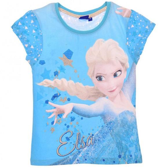 Tricou maneca scurta Frozen,cu stele, albastru,8 ani 0