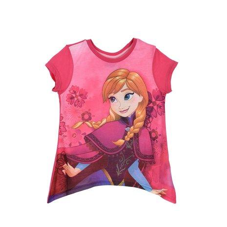 Tricou maneca scurta Frozen, roz, 6 ani [0]