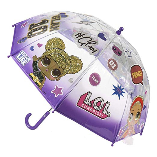Umbrela manuala Lol Surprise mov 42 cm 0