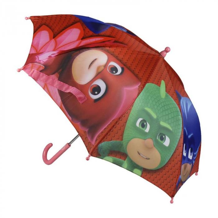 Umbrela manuala PJ Masks rosu 42 cm 0