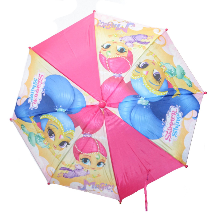 Umbrela manuala Shimmer Shine maner roz 42 cm 1