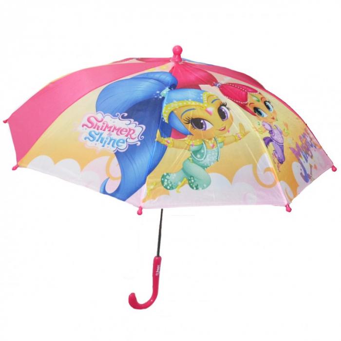 Umbrela manuala Shimmer Shine maner roz 42 cm 0