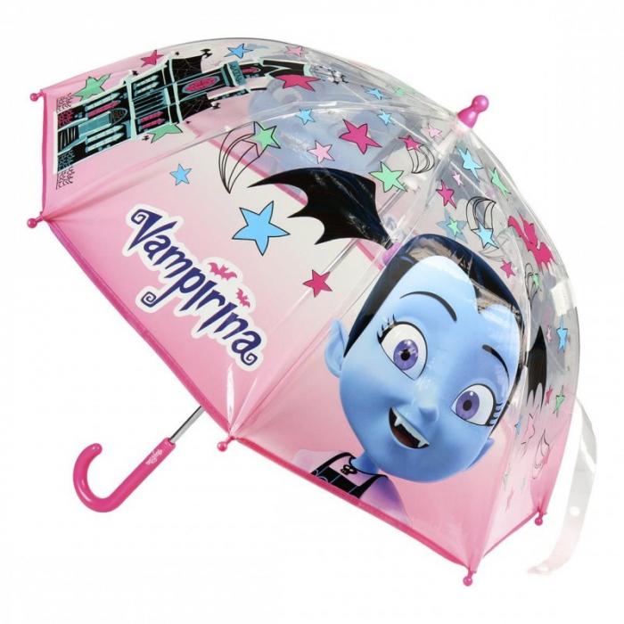 Umbrela manuala Vampirina transparenta 0