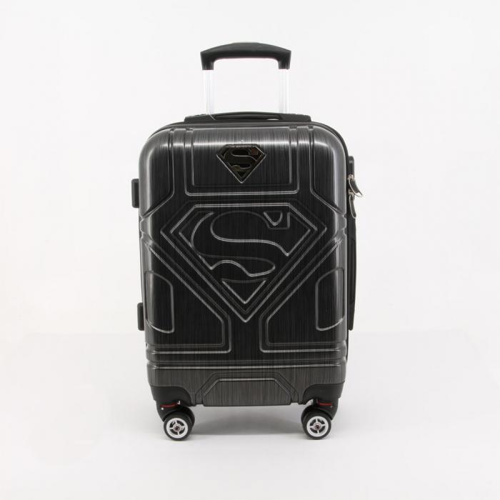 Valiza Troler ABS Superman negru 34x54x22 cm 2