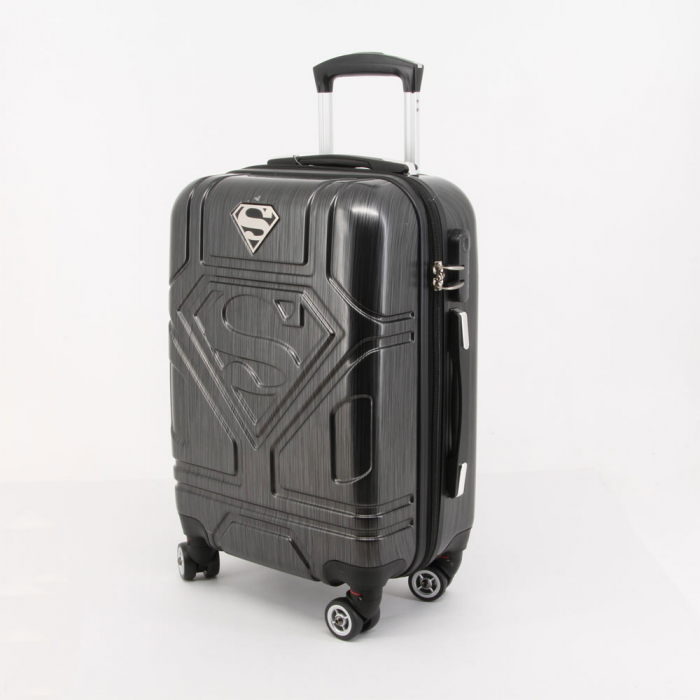 Valiza Troler ABS Superman negru 34x54x22 cm 1