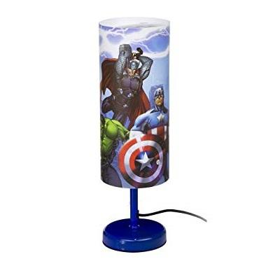 Veioza lampa cilindru noptiera Avengers albastru 29 cm 0