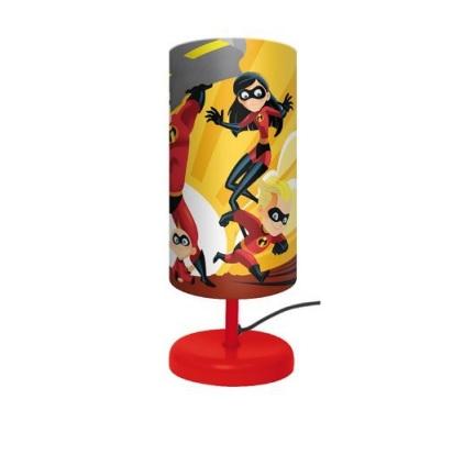 Veioza lampa cilindru noptiera Incredibles rosu 29 cm 0