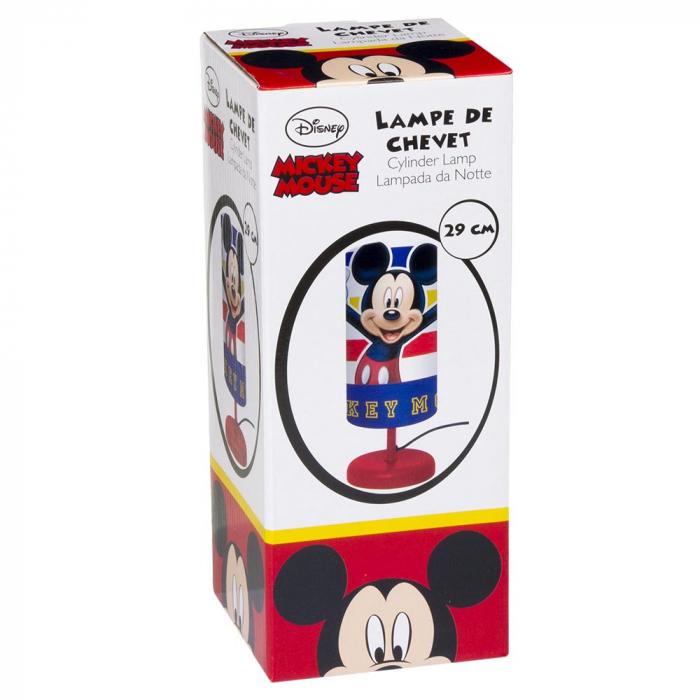 Veioza lampa cilindru noptiera Mickey Mouse rosu 29 cm [1]