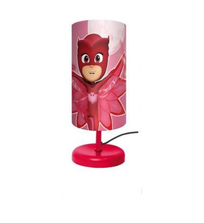Veioza lampa cilindru noptiera PJ Masks rosu 29 cm 0