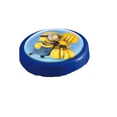 Veioza lampa Led push Minions 14 cm albastra 0