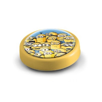 Veioza lampa Led push Minions 14 cm galben 0