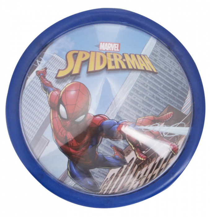Veioza lampa Led push Spiderman14 cm albastru 0
