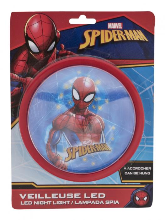 Veioza lampa Led push Spiderman14 cm rosu [1]