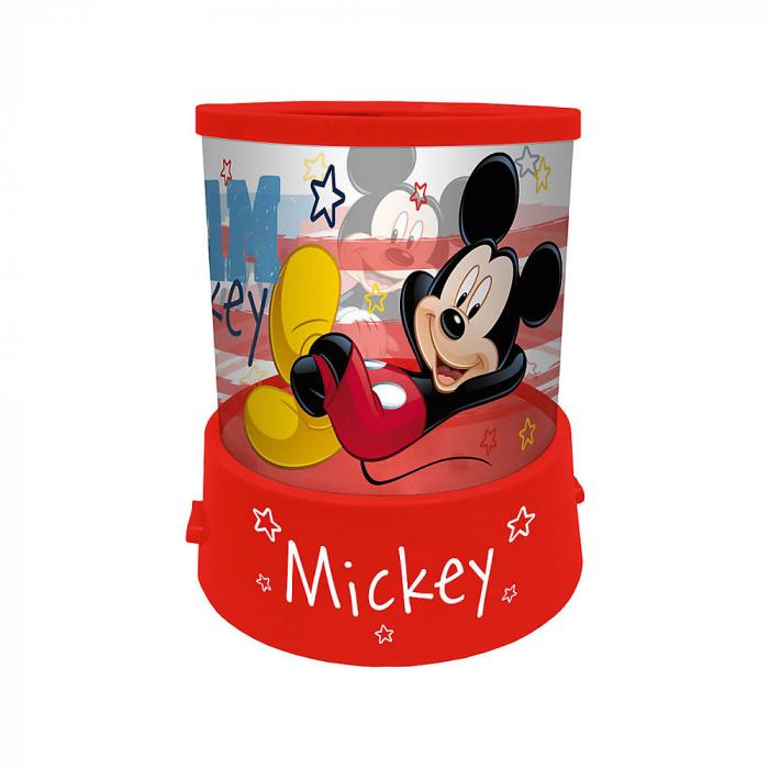 Veioza lampa Mickey Mouse cu proiectie rosu 11.5 cm 0