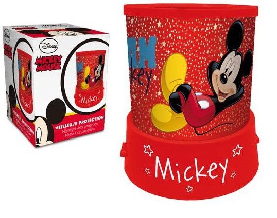 Veioza lampa Mickey Mouse cu proiectie rosu 11.5 cm 1
