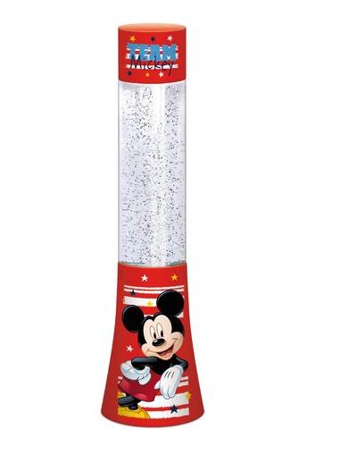 Veioza lampa Mickey Mouse glitter rosu 33.3 cm 0