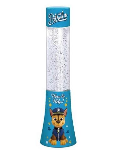 Veioza lampa Paw Patrol glitter albastra 33.3 cm 0