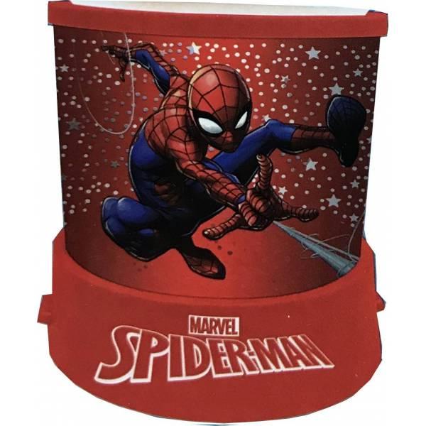 Veioza lampa Spiderman cu proiectie rosu 11.5 cm [0]